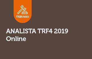Analista TRF4 2019 | ONLINE