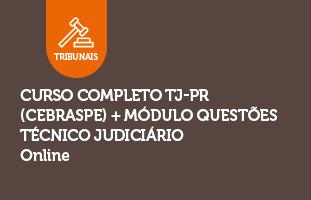 Curso Completo TJ-PR (CEBRASPE) + Módulo Questões | Técnico Judiciário | ONLINE
