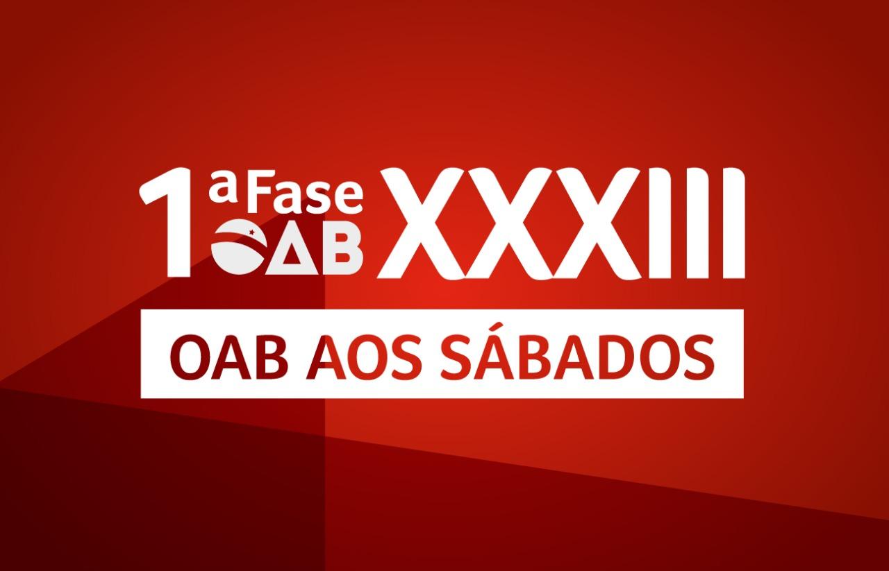 OAB aos Sábados 1ª Fase | PRESENCIAL | XXXIII E.O.
