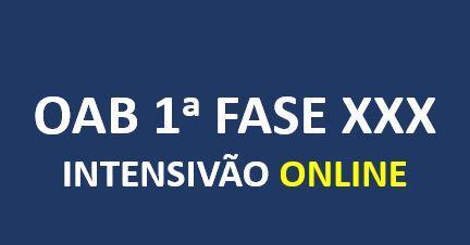OAB Intensivão | XXX E.O. | ONLINE