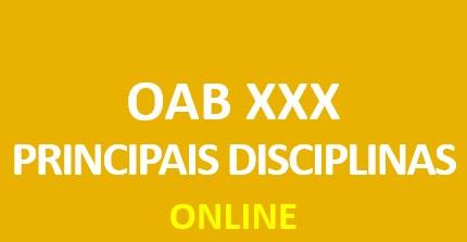 Principais Disciplinas do Exame XXX | ONLINE