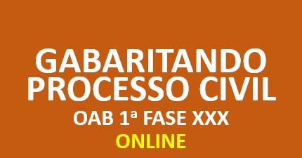 XXX Gabaritando Processo Civil | Online
