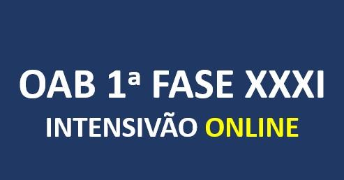 OAB Intensivão | XXXI E.O. | ONLINE