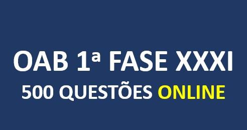 500 Questões Comentadas | ONLINE