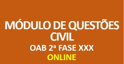 Módulo de Questões - Prática Civil | ONLINE