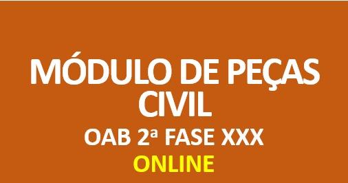 Módulo de Peças - Prática Civil | ONLINE