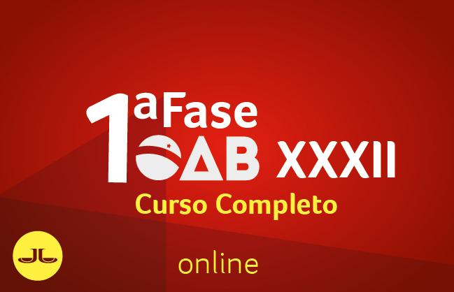 OAB Curso Completo 1ª Fase | ONLINE | XXXII E.O.