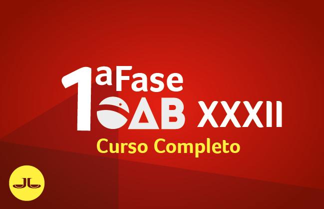 OAB Curso Completo 1ª Fase | SEMIPRESENCIAL transmissão simultânea | XXXII E.O.