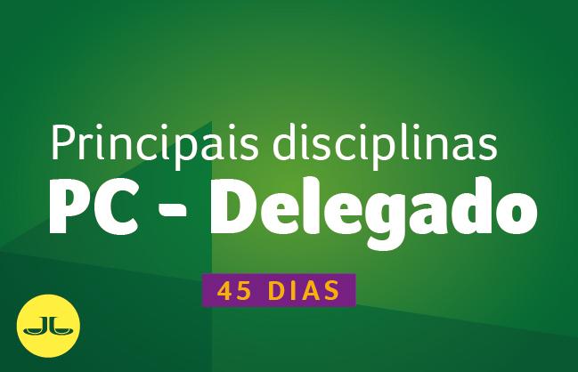 Delegado PC PR | PRINCIPAIS DISCIPLINAS