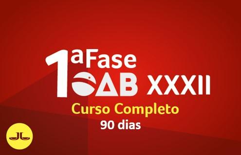 OAB Curso Completo 1ª Fase - 90 dias | ONLINE | XXXII E.O.