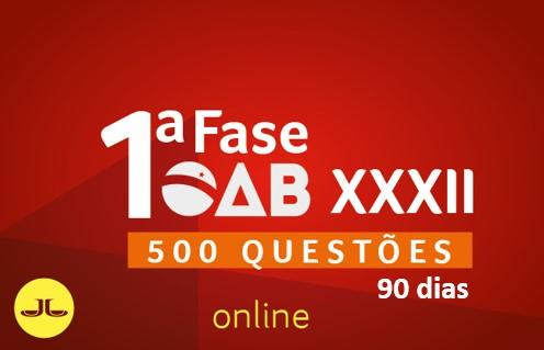 OAB 500 Questões Comentadas - 90 dias |ONLINE | XXXII E.O.